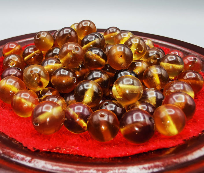 Perles Ambre 8 mm
