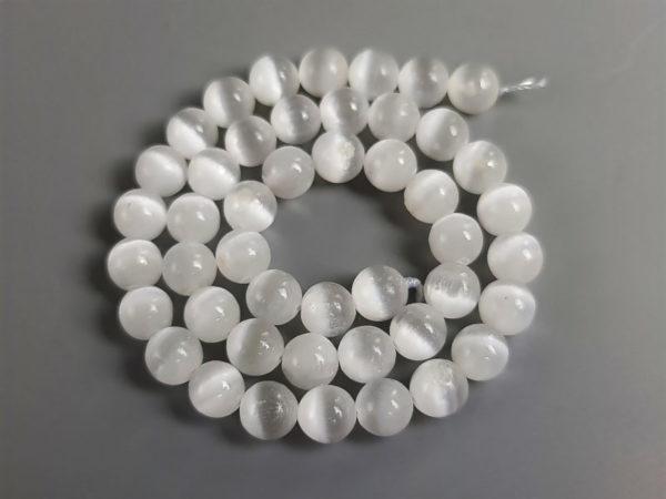 Perle sélénite 8 mm