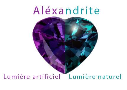 Alexandrite lumiere artificiel lumiere naturel